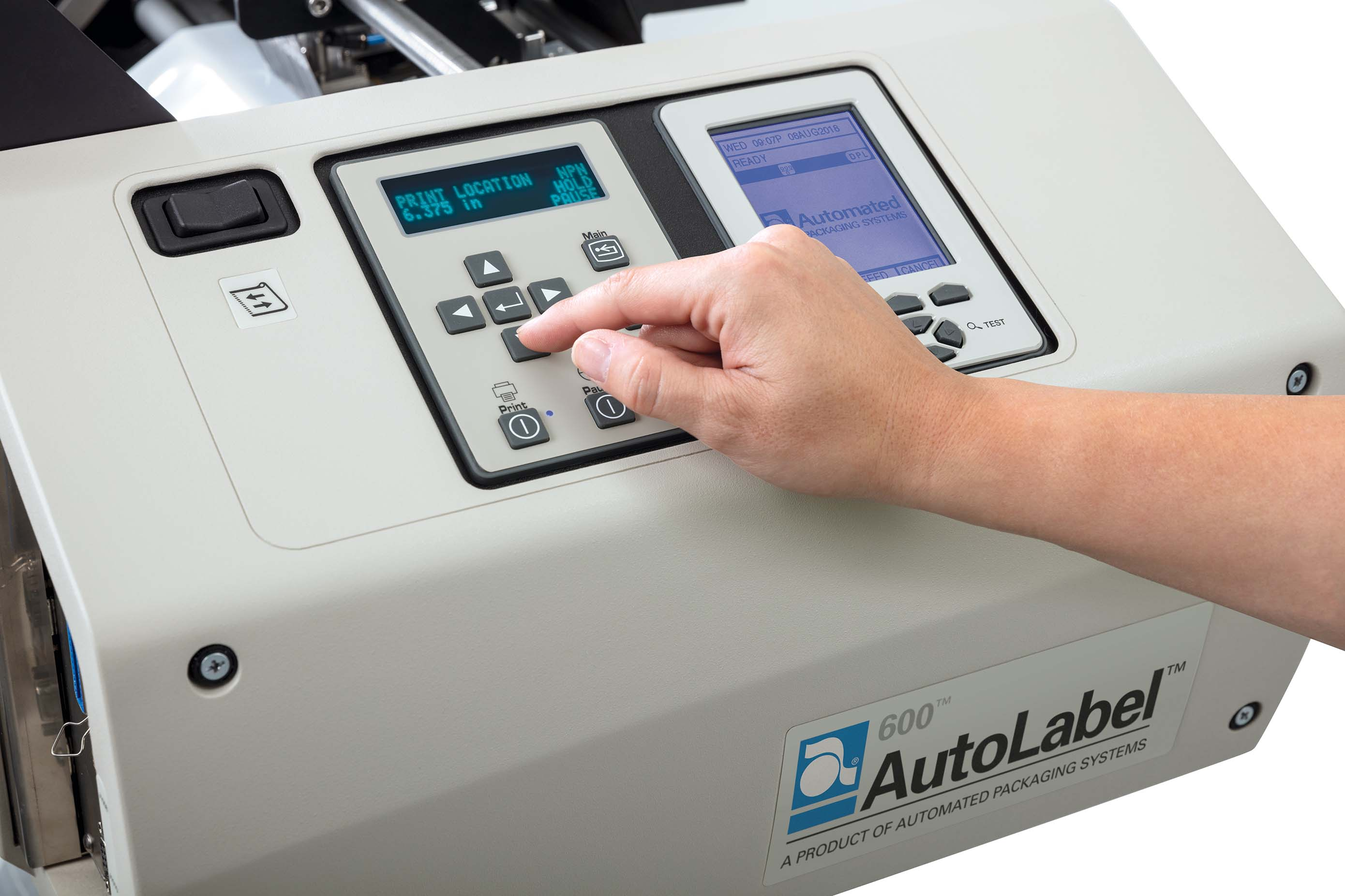 AutoLabel 600 Wide Precision Location Adjustment