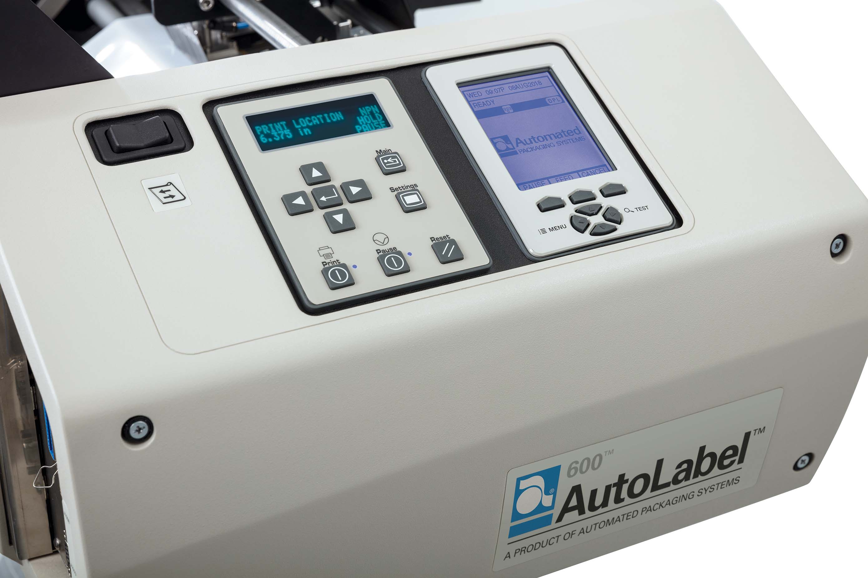 AutoLabel 600 Wide Printer Control Panel