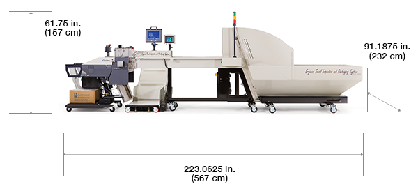 Autobag Ergocon Textile Packaging System with dimensions